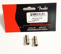 Genuine Fender USA Jaguar/Jazzmaster Bridge Post Body Thimbles - Nickel - 2 Pack