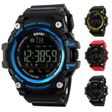 Mens Waterproof Led Digital Pedometer Sport Watch Skmei Bluetooth Smart Watch
