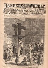 1868 Harpers Weekly December 12 New Castle DE whipping post;Pollard Assassinated