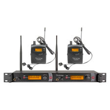 Pro Audio Wireless In Ear Monitor System 2 Receiver Whole Metal Monitoring Stage