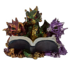 Elements Triple Baby Dragons Reading Figurine - 8cm Figure Ornament Gift