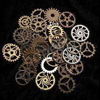 35PCS Steampunk Cyberpunk Jewellery Cogs & Gears Watch Parts Making Craft Arts