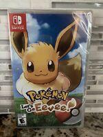 Pokemon Let's Go Eevee Nintendo Switch Brand New Factory Sealed