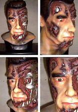"15""Terminator SCHWARZENEGGER Damaged Face Classic Movie Vinyl Bust 1/1"