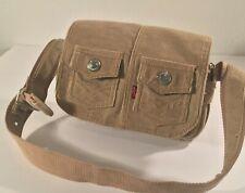 Levi's red tab tan corduroy snap pocket purse adjustable shoulder strap