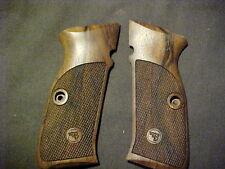 CZ 75 BD Full-Sized Fine English Walnut Chkrd/Logo Pistol Grips w/DECOCKER ONLY