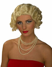 Flapper Wig 20s Curls Marilyn Monroe Blonde Dress Up Halloween Costume Accessory