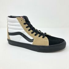 Vans Sk8 Hi (Black Outsole) White Brown Black Skate Shoes Mens Size 10