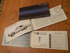 1971 PONTIAC u.a.GRAND VILLE Betriebshandbuch/Owner´s Manual,engl.Text,orig.GM !