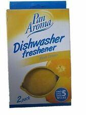 Pan Aroma 2 Pack Dishwasher Freshener Lemon Shape Lasts 5 Weeks Kitchen UK SALE