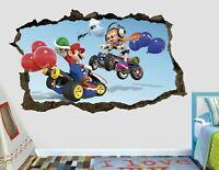 Mario Kart Splatoon Custom Wall Decals 3D Wall Stickers Art Decor AH698
