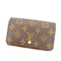 Louis Vuitton Wallet Purse Monogram Brown Woman Authentic Used Y6139