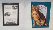 "50 ""Victorian Cats"" Scraps DECOUPAGE BOOK (Complete) & Framed Cat Poem"