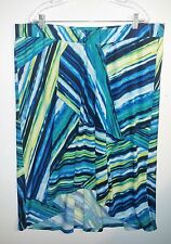 EUC Sunny Leigh Abstract Stripe Hi-Lo Hem A-Line Knit Skirt Size 2X