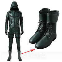 Green Arrow Season 5 Oliver Queen Cosplay Shoes Custom-Made Boots