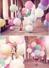 """10 Colors 36"""" Grande Ballon Látex Cumpleaños Globos Boda Fiesta Helio Decoración"""
