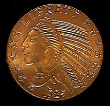 """New 1 oz Copper Round """"1929 Incused Indian Obverse & Reverse"""" #21"""