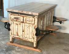 Science Lab. Table W/4 Swing Out Seats. General /Country Store, Kitchen Island