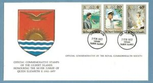1977 GILBERT ISLANDS SILVER JUBILEE ROYAL COMMONWEALTH SOCIETY FDC