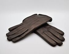 NEW Auth FRATELLI ORSINI Everyday Italian Rabbit Fur Mens Brown Gloves Size S