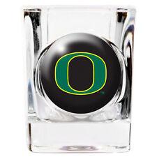 Oregon Ducks Square Shot Glass 2 oz. Round Logo [NEW] NCAA Bar Drink CDG