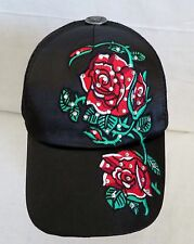 Ed Hardy Black with Red Rose Hat