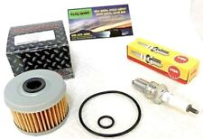 Honda TRX300 FourTrax 300 Oil Filter & Spark Plug  & Cover O-Rings Set 1988-2000
