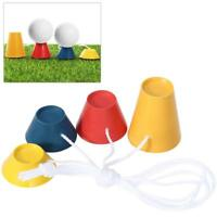 4Pcs Jumbo Rubber Winter Golf Tees 4 Colors with Different Heights Frosty Days