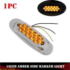 1x Amber 16 LED Side Marker Clearance Light Truck Trailer for Freightliner 12V