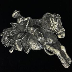 Rodéo Tronçonnage Cheval Bronc Art Cow-Boy Cadeau 80s Rétro Boucle Ceinture O232