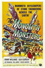 "VINTAGE - THE MONOLITH MONSTERS MOVIE POSTER 12"" x 18"""