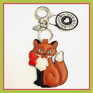 Brighton FREDA FOX Leather Handbag Fob Key Chain NWT $50