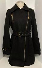 Michael Kors Belted Front Zip Trench Coat Size 4