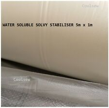 WATER SOLUBLE SOLVY STABILISER 5m x 1m Water Wash Away Dissolvable Film Backing