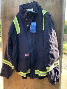Big Bill FR Flame Resistant Indura by Westex 2xl Ln  Blue Parka Jacket Frc PPE
