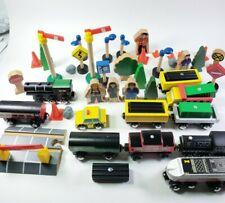 Mixed Wooden Train Lot Set, Trains, Characters, Trees, - Thomas Brio Imaginarium