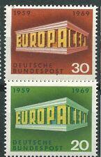 ALEMANIA EUROPA cept 1969 Sin Fijasellos MNH