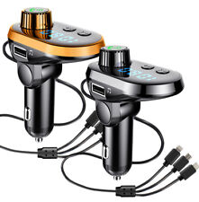 Bluetooth V5.0 FM Transmitter Handsfree Stereo Bass MP3 Player USB Car Charger