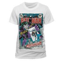 Official Batman Joker Comic T Shirt DC Comics Villains Dark Knight White NEW