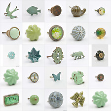 Green Colour Coloured Knob, Pull, Handle, for Cupboards, Doors, Cabinets, Drawer