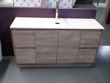 MELBOURNE 1500MM WOODEN BATHROOM VANITY WITH SINGLE STONE TOP (BV16HS) NO BASIN