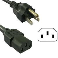 HQRP AC Power Cord fits Samsung HL61A510J1F HL61A650C1F HL61A750A1F HL67A510J1F HL67A750A1F HL72A650C1F HDTV TV LCD LED Plasma DLP Mains Cable