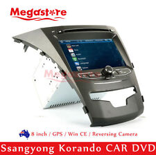 "8"" Car DVD GPS Nav Stereo Head Unit Radio For Ssangyong Korando 2014-2016"