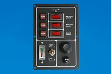 12V Switch Panel with battery test gauge and push button horn switch