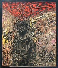 James Mathers (Los Angeles 1964) Selfportrait on canvas EXHIBITED in Milan 1987