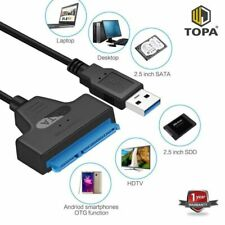 USB 3.0 To 22 Pin SATA 2.5 Inch Hard Disk Drive SSD Adapter Connector Cable Lead