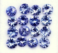 Natural Tanzanite 4 MM Round Cut Lustrous Violet Blue Loose Gemstone Lot