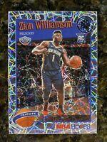 2019-20 NBA Hoops ZION WILLIAMSON Premium Stock Prizm Lazer Tribute Silver #296