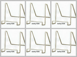 "(6) SILVER 4"" Plate Stand Square Wire Easel Display Tripar 50214 LOT Of 6"