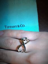 $250 Tiffany & Co. Sterling Silver 925 Paloma Picasso Double Loving Heart Ring